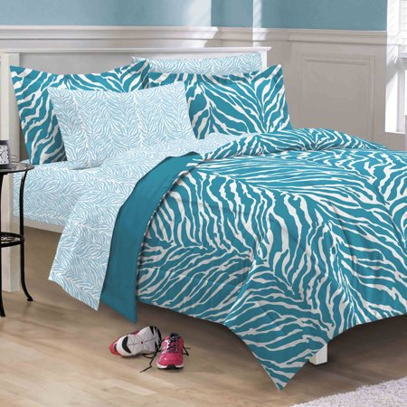 My Room Zebra Bed in a Bag, Aqua