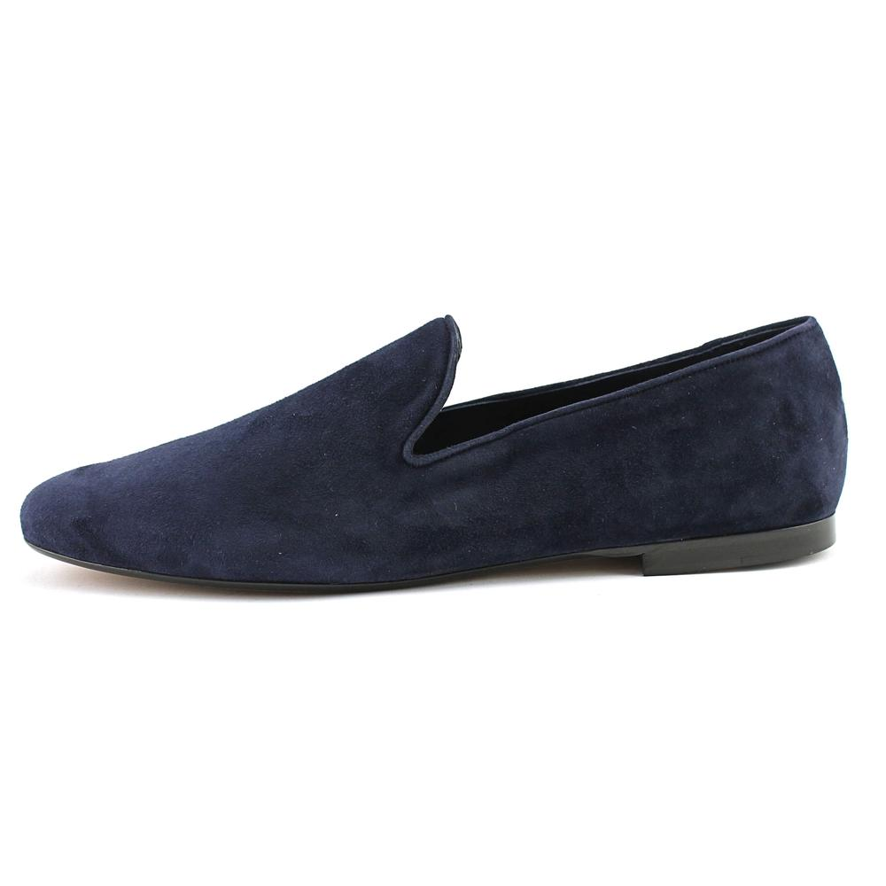 Vince Bray Women  Round Toe Suede Blue Loafer