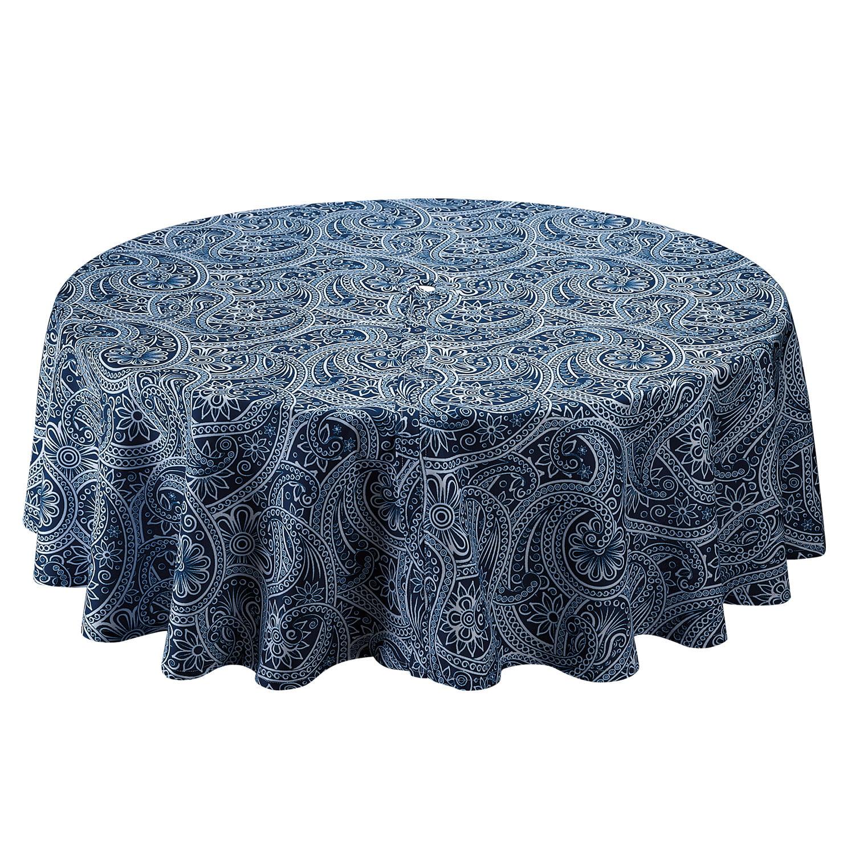 Dii Blue Paisley Umbrella Outdoor Tablecloth 60 Diameter 100