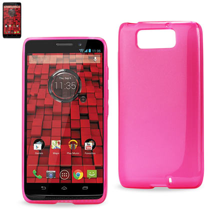 Polymer Case Contains Pearl Powder+Tpu Motorola Droid Maxx Xt-1080M Hot Pink