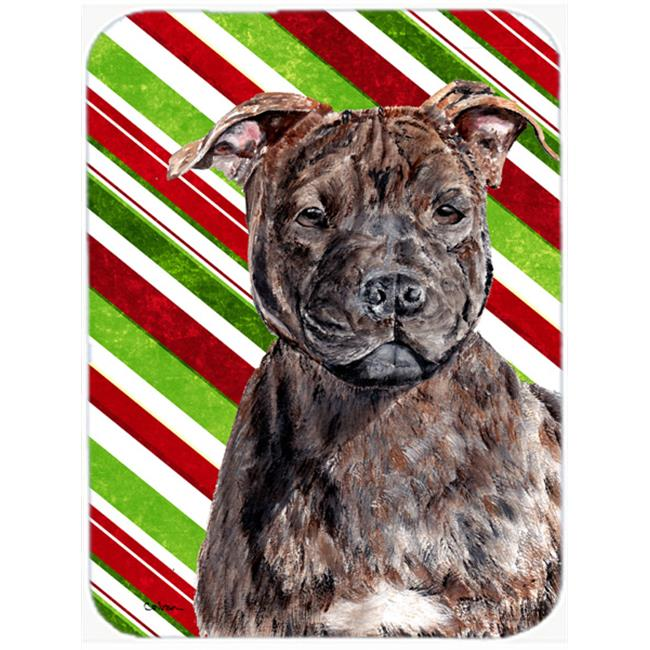 Staffordshire Bull Terrier Staffie Candy Cane Christmas Mouse Pad, Hot Pad Or Trivet, 7.75 x 9.25 In. - image 1 de 1