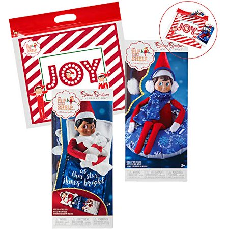 The Elf on the Shelf Claus Couture All New 2018 Collection Slumber Party Accessories Set: Tubular Snow Set, Sleeping Bag with Mini Felt Bear for Elves and Exclusive Joy Travel Bag - Elf On The Shelf Halloween Card