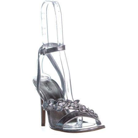 0061bac50bf MICHAEL Michael Kors Wrap Around Heeled Sandals, Silver