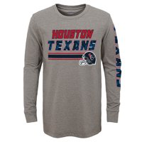 Product Image Youth Gray Houston Texans Long Sleeve T-Shirt 18abad403