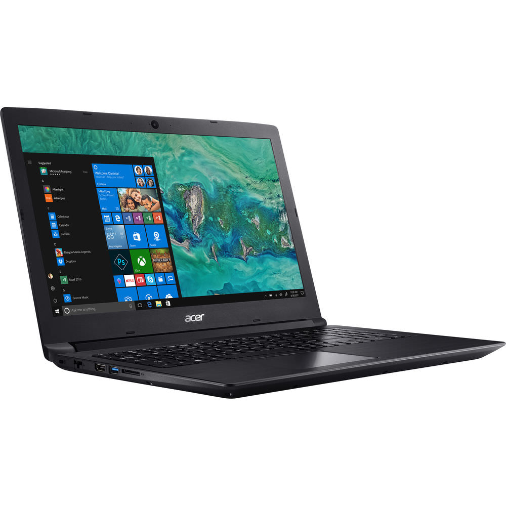 "Acer Aspire 3, 15.6"" LCD Notebook, AMD Ryzen 3 2200U Dual-core, AMD Radeon Vega 3 Mobile Graphics, 4GB, 1TB HDD, A315-41-R0GH"
