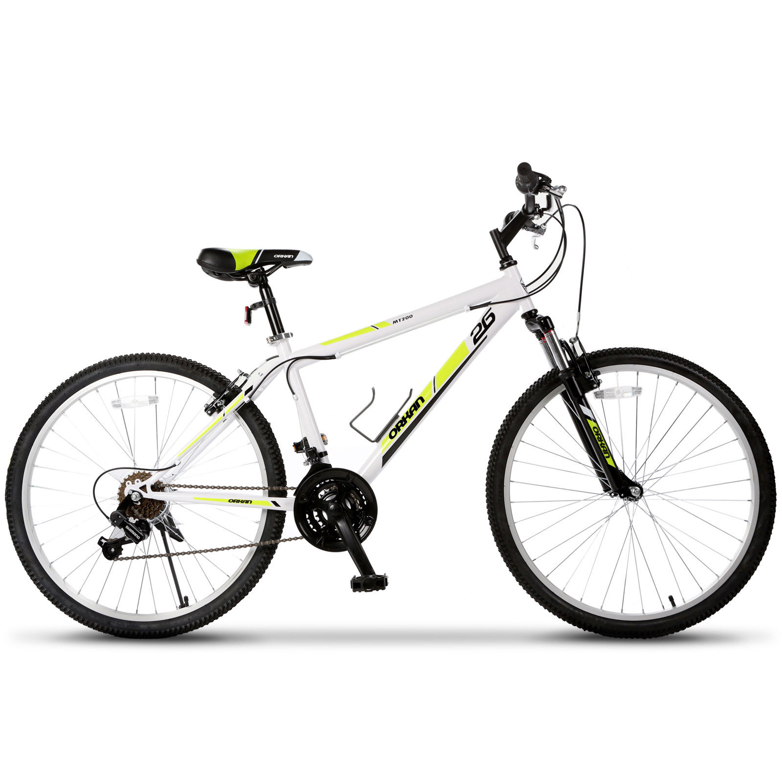 "Murtisol 26"" Folding Mountain Bike 7 Speed Foldable Commuter Bicycle Full Suspension & Shimano Derailleur"