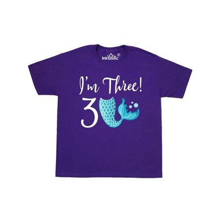3rd Birthday Mermaid Party Youth T Shirt