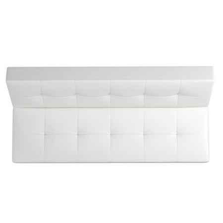 Dhp Aria Futon Sofa Bed White Faux Leather Upholstery