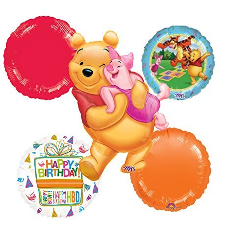 Winnie The Pooh Celebrate Birthday Party Balloon Bouquet Decorations