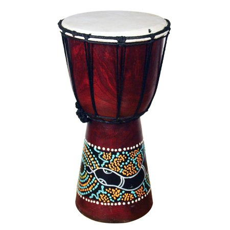 Stoneage Arts Handmade Jembe Drum with a Paint Dropper