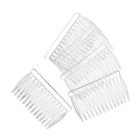 14 Clear Plain plastic Smooth Hair Clips / Combs 2 3/4