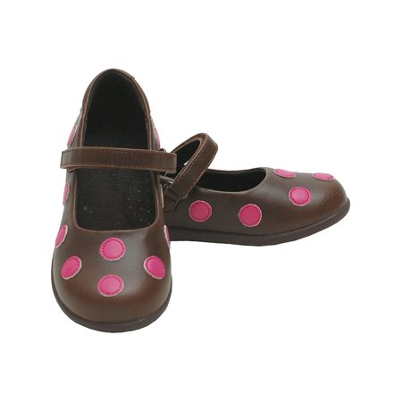 Brown Polka Dot Shoes (L'Amour Brown Pink Polka Dot Mary Jane Shoes Toddler 5-Little Girls)