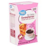 Great Value No Calorie Sweetener, 250 count, 8.82 oz