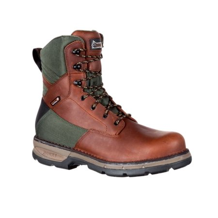 Rocky Outdoor Boots Mens Insulated Leather Fieldlite Brown RKS0335