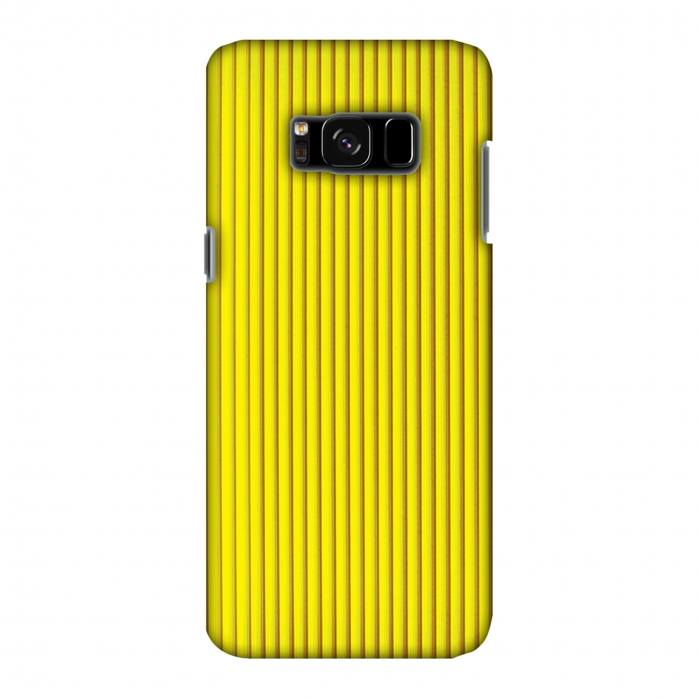 Samsung Galaxy S8 Case - Carbon Fibre Redux Cyber Yellow 12, Hard Plastic Back Cover, Slim Profile Cute Printed Designer Snap on Case with Screen Cleaning Kit