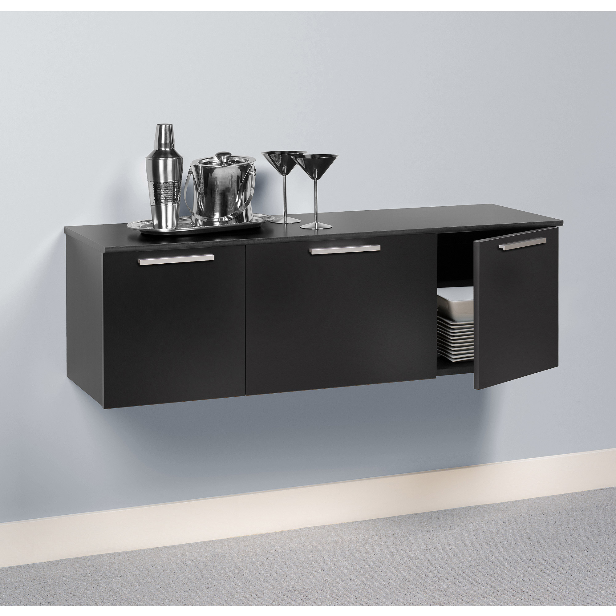 imagio home roanoke server sideboard cabinet rubbed black
