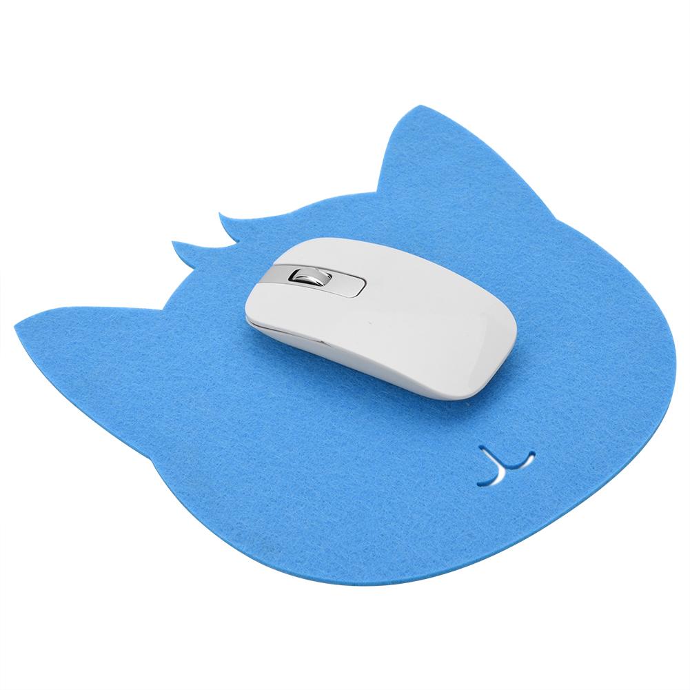 Yosoo Cat Shape Anti-static Felts Table Mouse Pad Office Dust-proof Desk Pads, PC Mat,  Felts Mat