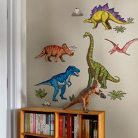 Dinosaurs Wall Sticker - Vivid - Peel and Stick