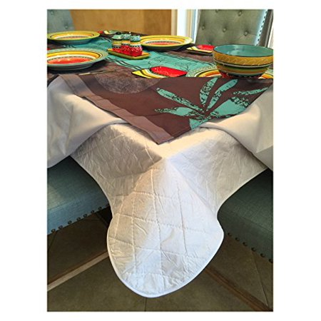 First Quality Quilted Table Protectors - Quilted Dining Table Pad with Flannel Backed for More Protection (52 x 90) - image 1 of 1