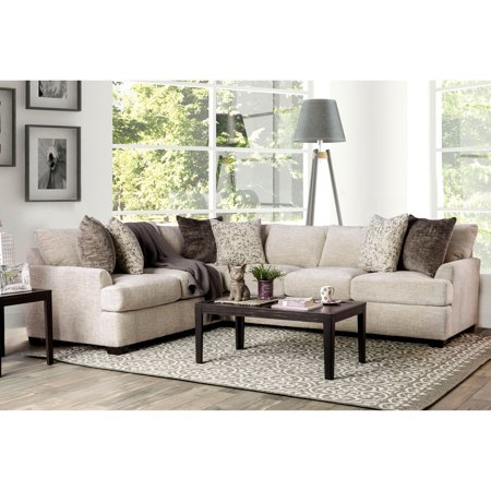 Furniture of America Thompson Contemporary Chenille Sectional (Chenille Sectional)