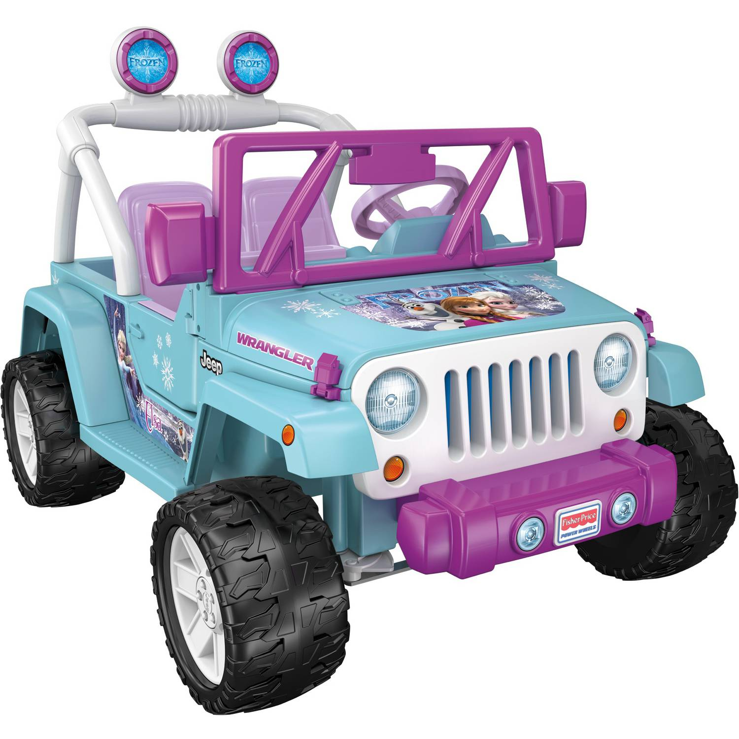 power wheels disney frozen jeep wrangler 12 volt battery powered ride on walmartcom