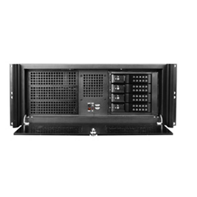 iStarUSA D416-DE4BK 4U Compact Stylish Rackmount 4 x 3.5 In. Trayless Hotswap Chassis, Black