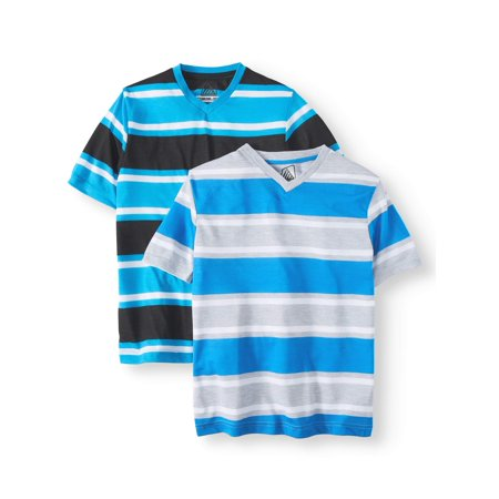 Road Block Stripe V-Neck Jersey Tee, Value, 2-Pack Set (Little Boys) (New Kids On The Block Jersey)