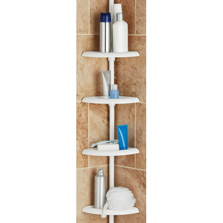 Family Shower Caddy (Mainstays Tension Pole Shower Caddy, White )