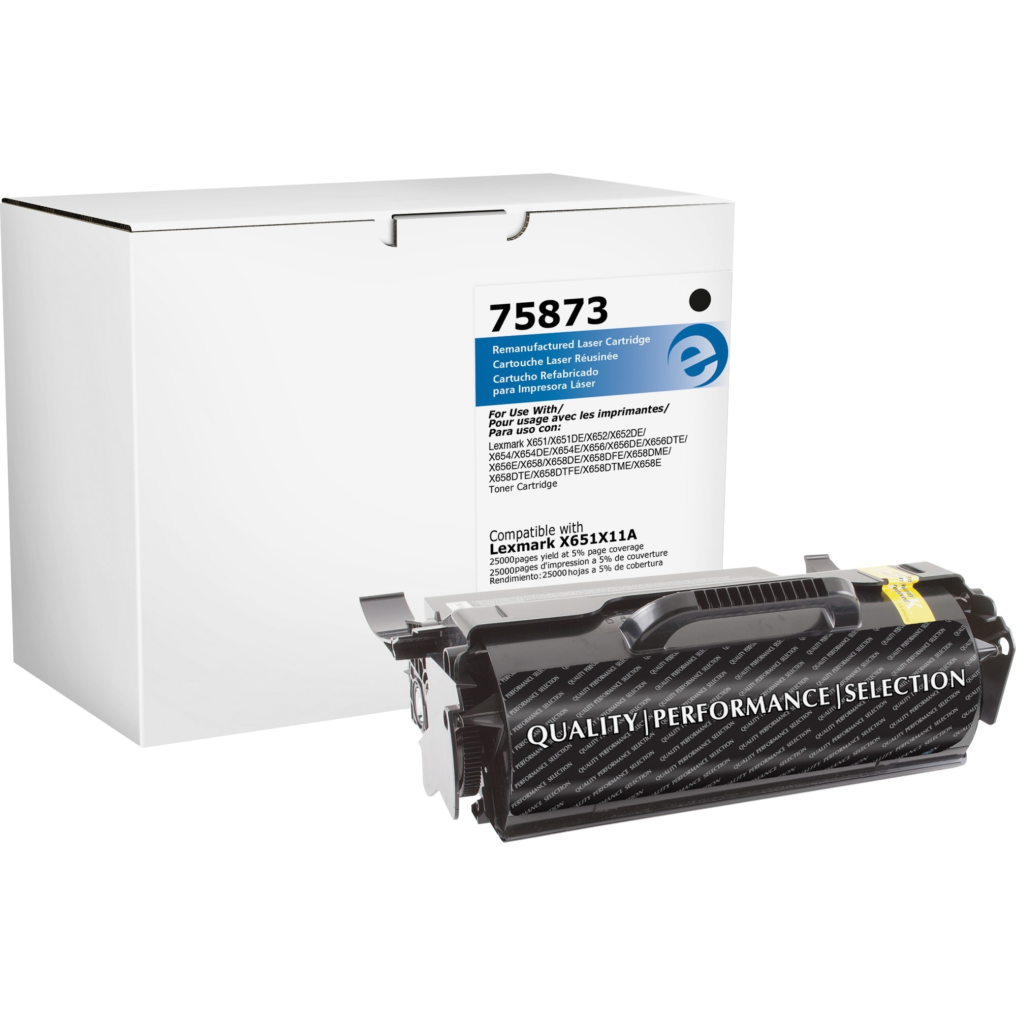 Elite Image, ELI75873, 75873 Remanufactured Lexmark H.Yld Tnr Cartridge, 1 Each