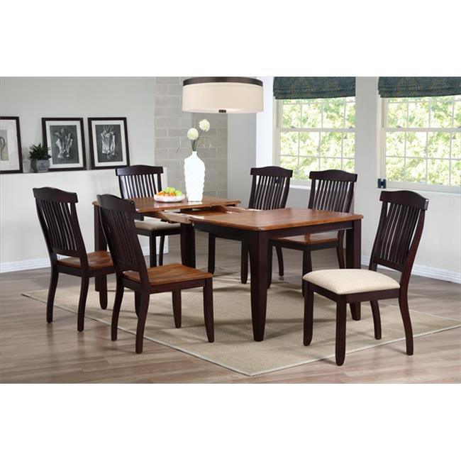 Iconic Furniture Rectangle Dining Table, Contemporary Leg In Whiskey & Mocha