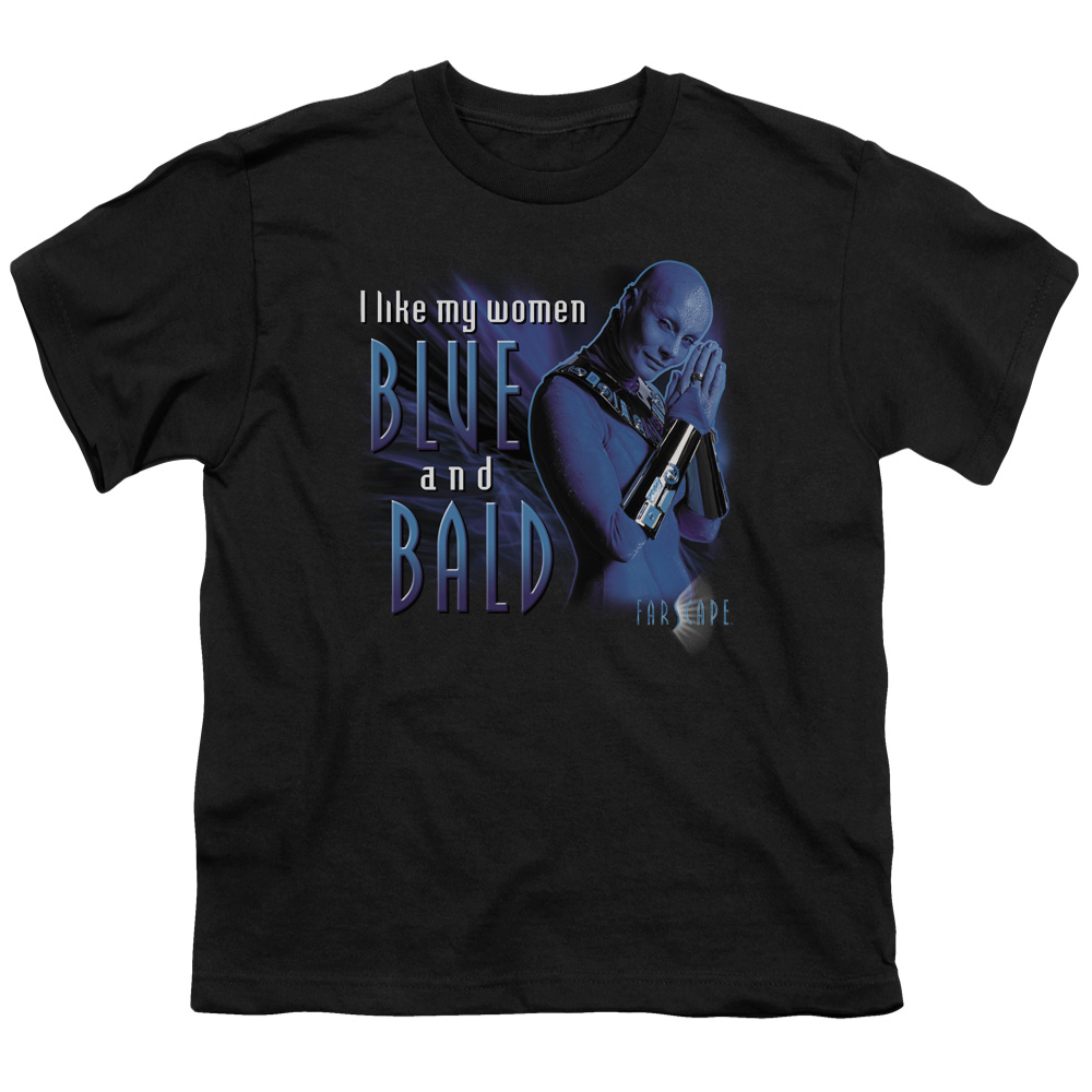 Farscape Men's  Blue And Bald Youth T-shirt Black
