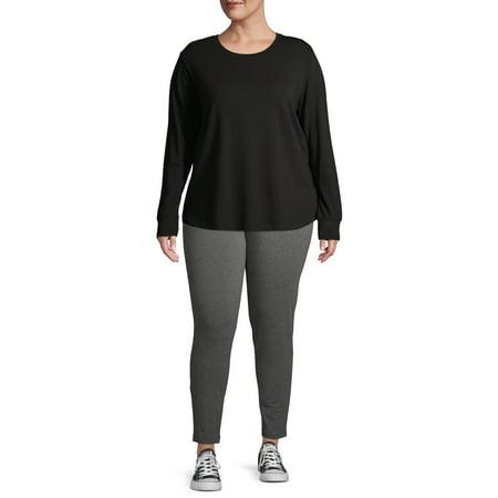 Terra & Sky Plus Size Soft Full Length Leggings