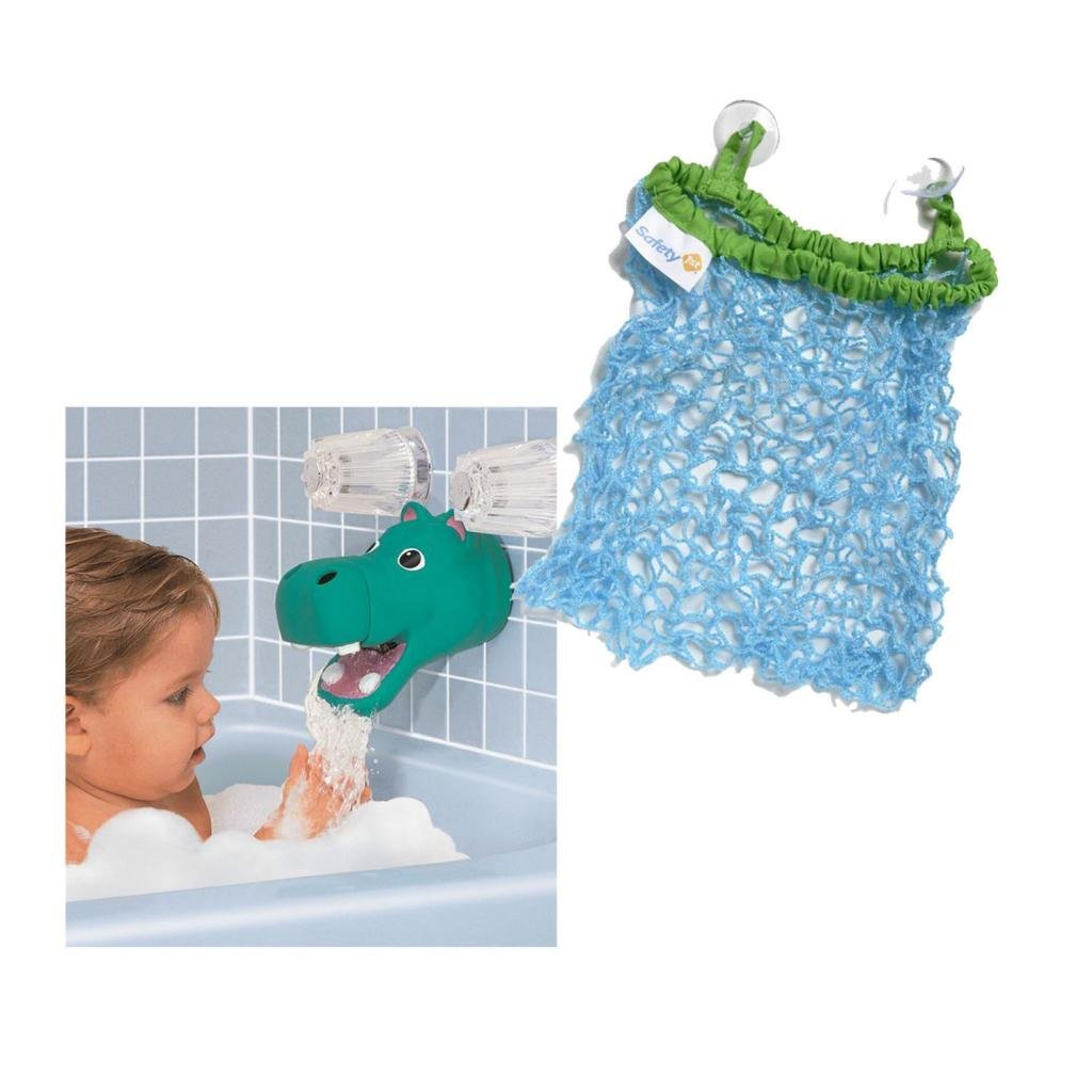 Kel-Gar Tubbly-Bubbly Hippo Faucet Cover with Bath Bag