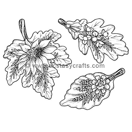 Sue Wilson -Autumn Leaf Bouquets Stamp (Stamping Leaf)