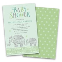 Personalized Baby Elephant Personalized Baby Shower Invitations