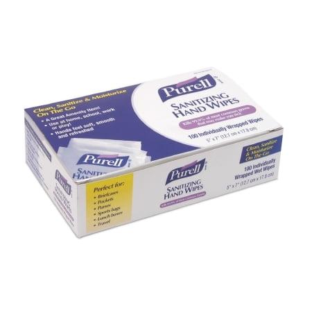 - GOJO Purell Sanitizing Skin Wipe - 9022-10CS - 1000 Each / Case