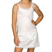 I.C. Collections Girls White Simple Empire Waist Slip