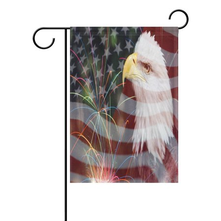 - POPCreation American Flag Bald Eagle Garden Flag Outdoor Flag Home Party 28x40 inches