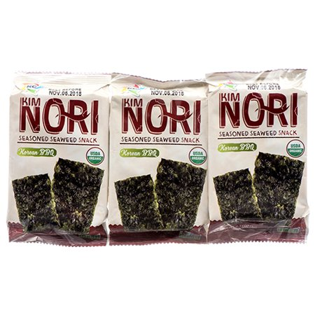 New 373624  Kimnori Seaweed Korean Bbq 0.14 Oz 3Pk (10-Pack) Snacks Cheap Wholesale Discount Bulk Snacks Snacks Candle Holder Pedestal for $<!---->