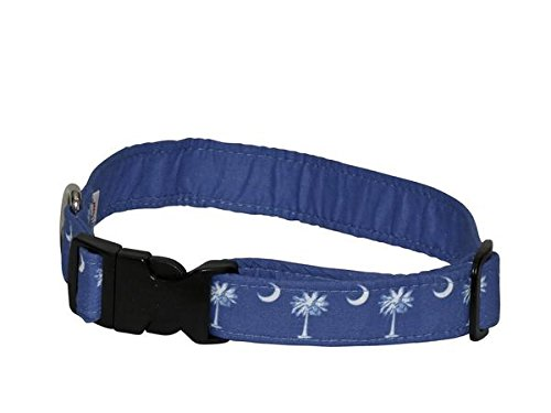 Beautiful Elmou0027s Closet Palmetto U0026 Crescent Moon Dog Collar   Medium, Made In The USA  By