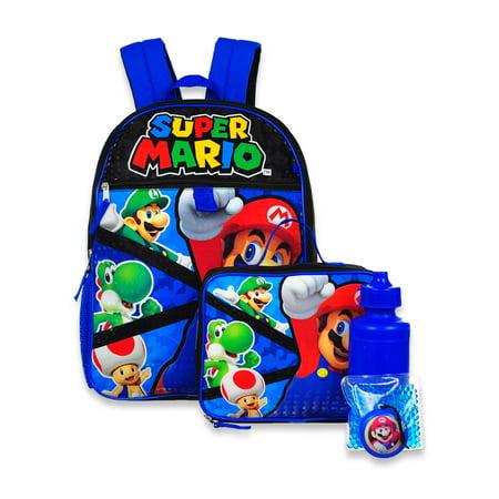 Super Mario 5-Piece Backpack Set