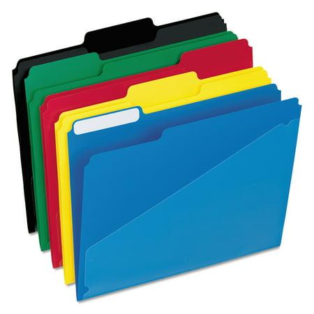 Pendaflex Hot Pocket Poly File Folders  1 3 Cut Top Tab  Letter  Assorted  25 Box