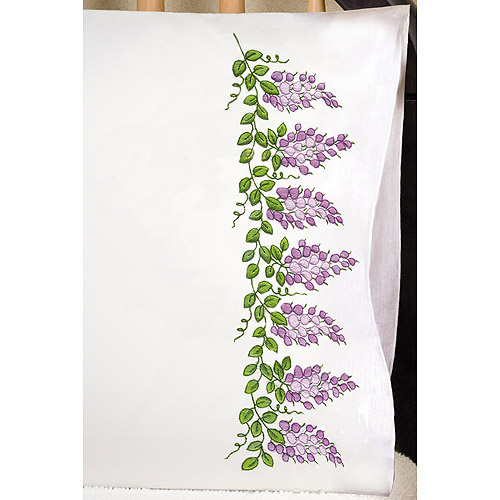 "Tobin Wisteria Stamped Pillowcase Pair, 20"" x 30"""