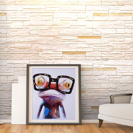 WALFRONT Frog Cartoon Canvas Painting Printed Picture Wall Art for Home Office Bedroom Decor (50*50cm), Wall Art, Modern Canvas Painting - image 8 of 8