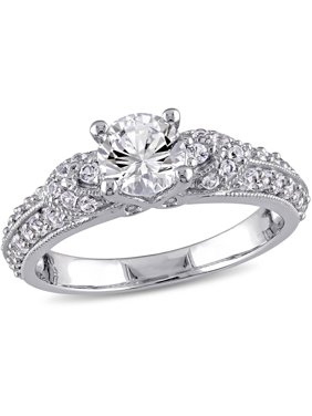1-2/3 Carat T.G.W. Created White Sapphire Sterling Silver Engagement Ring