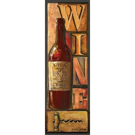 Posterazzi Type Set Wine Panel I Canvas Art - Gregory Gorham (12 x 36)