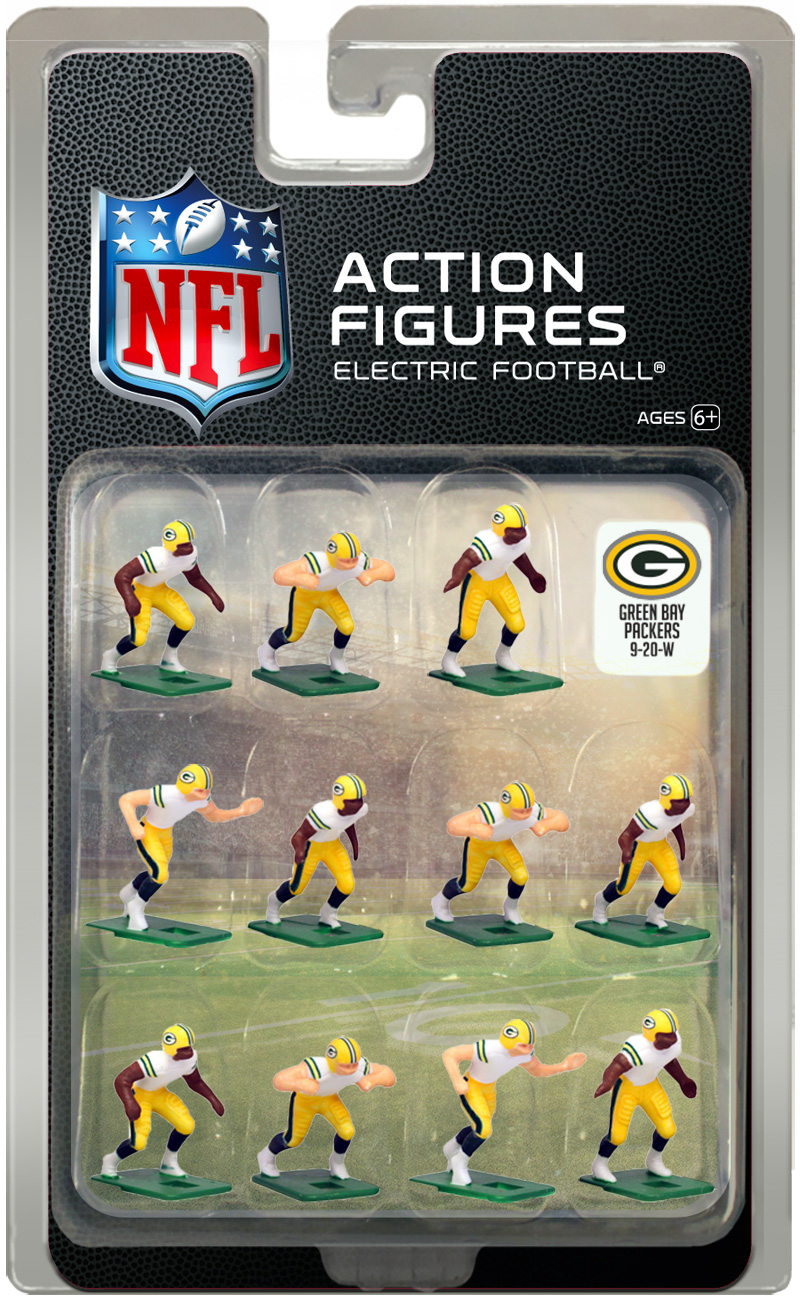 best service e3f73 28d1b Green Bay Packers Away Uniform NFL Action Figure Set