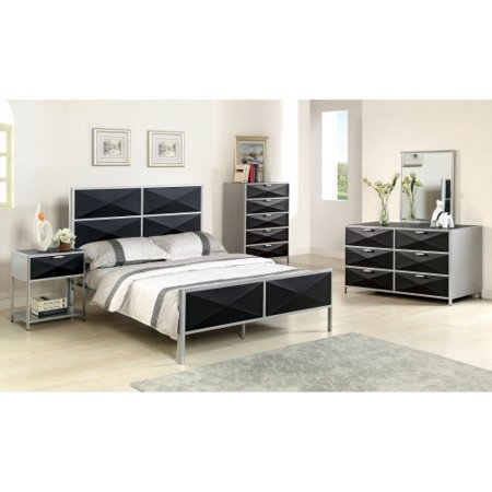 Furniture Of America Bronx Metal Platform Bed Silver And Black
