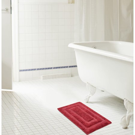 Echo 20 x 32 in. Reversible Cotton Bath Mat in (Acrylic Whirlpool Bath Reversible Outlet)