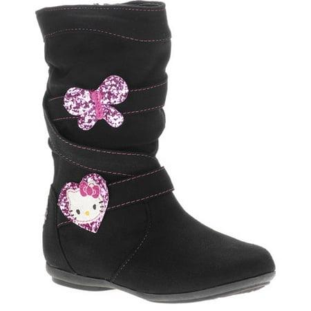 Hello Kitty Girlsu0026#39; Bows and Hearts Fashion Spin Boots - Walmart.com